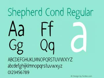 Shepherd Cond Regular Version 1.000图片样张