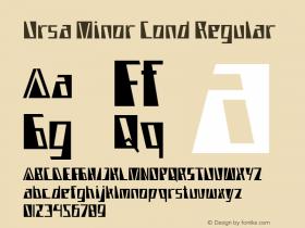 Ursa Minor Cond Regular Version 1.000图片样张