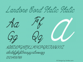 Landone Cond Italic Italic Version 1.000图片样张