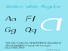 Stellon Wide Regular Version 1.000图片样张