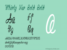 Whirly Nar Bold Bold Version 1.000图片样张