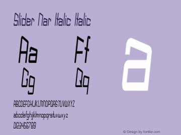Slider Nar Italic Italic Version 1.000图片样张