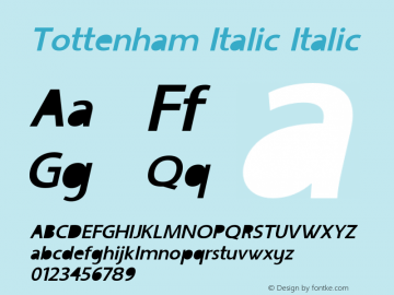 Tottenham Italic Italic Version 1.000图片样张