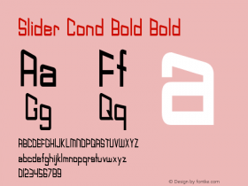 Slider Cond Bold Bold Version 1.000图片样张