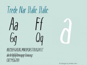 Trede Nar Italic Italic Version 1.000图片样张