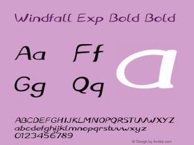 Windfall Exp Bold Bold Version 1.000图片样张
