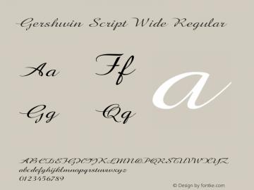 Gershwin Script Wide Regular Version 1.000图片样张