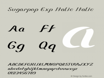 Sugarpop Exp Italic Italic Version 1.000图片样张