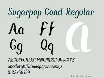 Sugarpop Cond Regular Version 1.000图片样张
