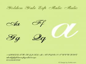 Golden Gate Exp Italic Italic Version 1.000图片样张