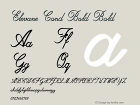 Elevane Cond Bold Bold Version 1.000图片样张