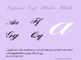 Capira Exp Italic Italic Version 1.000图片样张