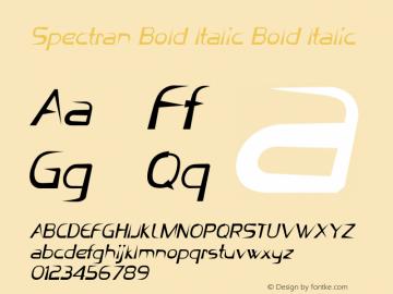 Spectran Bold Italic Bold Italic Version 1.000图片样张