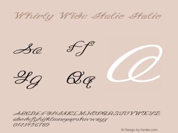 Whirly Wide Italic Italic Version 1.000图片样张