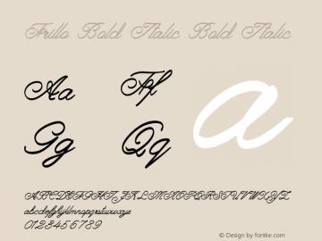 Frillo Bold Italic Bold Italic Version 1.000图片样张