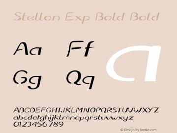 Stellon Exp Bold Bold Version 1.000图片样张