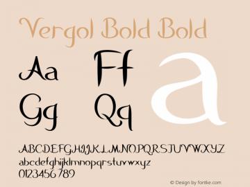 Vergol Bold Bold Version 1.000图片样张