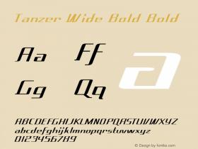 Tanzer Wide Bold Bold Version 1.000图片样张