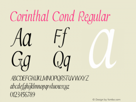 Corinthal Cond Regular Version 1.000图片样张