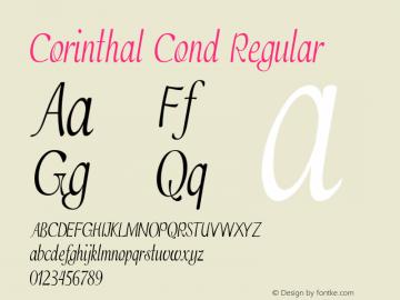 Corinthal Cond Regular Version 1.000图片样张