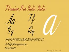 Flourian Nar Italic Italic Version 1.000图片样张