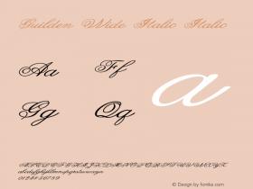 Guilden Wide Italic Italic Version 1.000图片样张