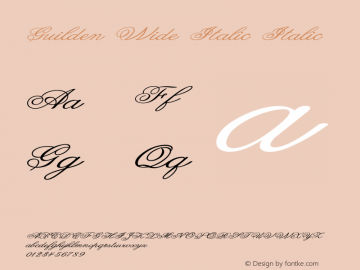 Guilden Wide Italic Italic Version 1.000图片样张