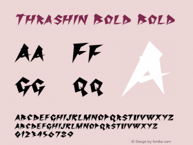 Thrashin Bold Bold Version 1.000图片样张