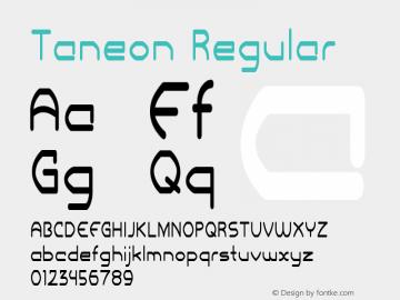 Taneon Regular Version 1.000图片样张