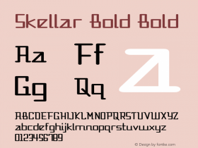 Skellar Bold Bold Version 1.000图片样张