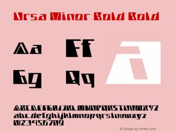 Ursa Minor Bold Bold Version 1.000图片样张