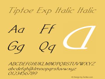 Tiptoe Exp Italic Italic Version 1.000图片样张