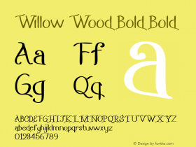 Willow Wood Bold Bold Version 1.000图片样张