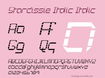 Stardissie Italic Italic Version 1.000图片样张