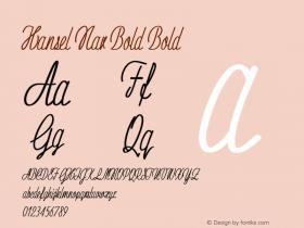 Hansel Nar Bold Bold Version 1.000图片样张