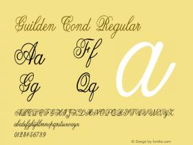 Guilden Cond Regular Version 1.000图片样张
