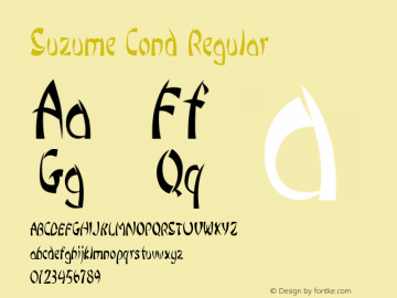 Suzume Cond Regular Version 1.000图片样张