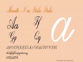 Monetto Nar Italic Italic Version 1.000图片样张