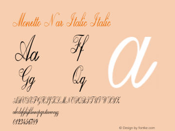 Monetto Nar Italic Italic Version 1.000图片样张