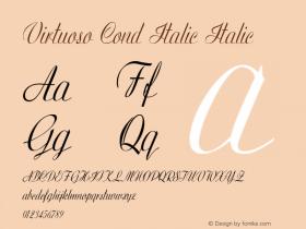 Virtuoso Cond Italic Italic Version 1.000图片样张
