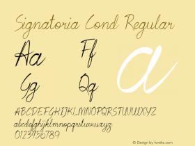 Signatoria Cond Regular Version 1.000图片样张