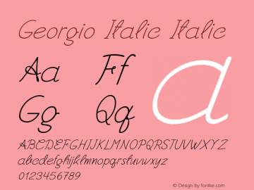 Georgio Italic Italic Version 1.000图片样张