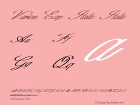 Varion Exp Italic Italic Version 1.000图片样张