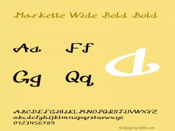 Markette Wide Bold Bold Version 1.000图片样张