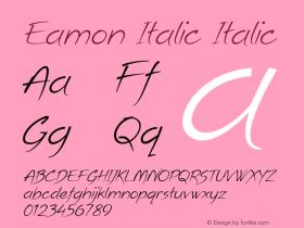 Eamon Italic Italic Version 1.500图片样张