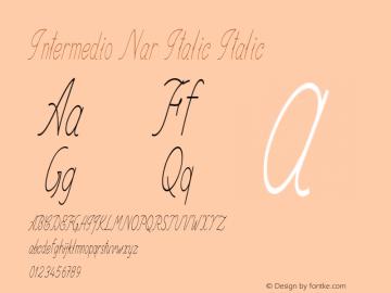 Intermedio Nar Italic Italic Version 1.000图片样张