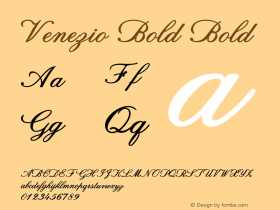 Venezio Bold Bold Version 1.000图片样张