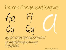 Eamon Condensed Regular Version 1.500图片样张