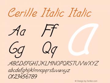Cerille Italic Italic Version 1.000图片样张