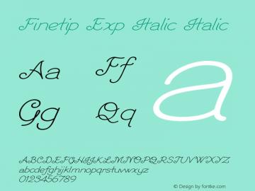Finetip Exp Italic Italic Version 1.000图片样张